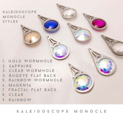 Kaleidoscope Crystal Monocle Necklace
