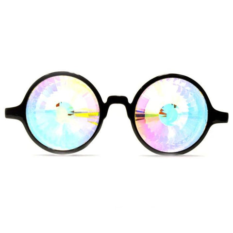 GloFX Wormhole Kaleidoscope Glasses with Rainbow Crystal Glass