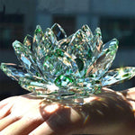 green Crystal Glass Lotus Flower