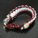 red, white and black bracelet pipe