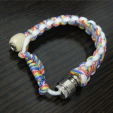 white survival bracelet pipe