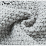 Simplee Knitted Lantern Sleeve Sweater