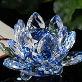 "Lotus ""Tranquility"" Flower - Crystal Glass blue"