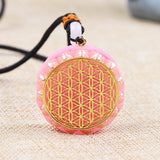 Flower of Life Orgonite Necklace
