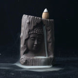 Buddha's Prayer Back Flow Incense Burner - with 20 pc Sandlewood Incense