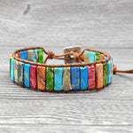 Colorful Mix Dyed Stone Hippie Wrap Pulsera Bracelet