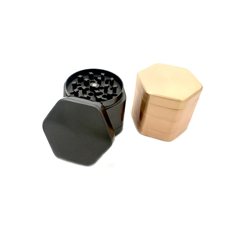Six Side Hexagon Novelty Grinder - 4 Layer 63 mm.