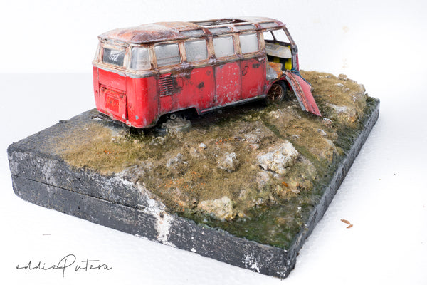Abandoned  Red VW Combi