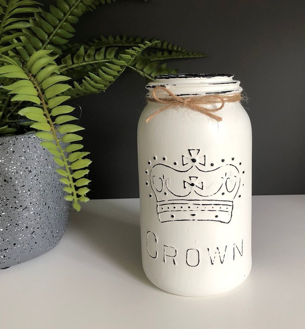Crown® Quart size mason jar