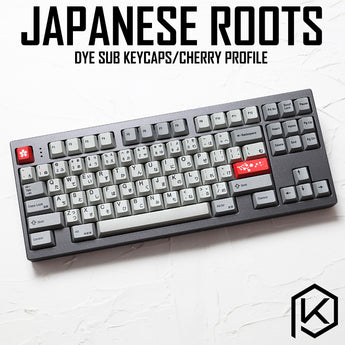 kprepublic 139 Japanese root black font language Cherry profile Dye Sub Keycap PBT