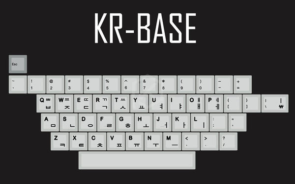 kprepublic 139 Korean root black font Cherry profile Dye Sub Keycap PBT
