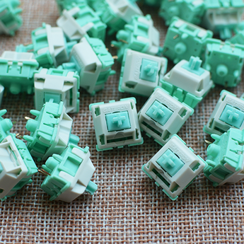 [CLOSED][Pre-Order] Robin switch EVE X Gateron green grey 62g linear 5 pin pcb-mounted
