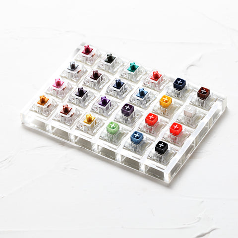 24 switch switches tester with acrylic base blank keycaps for mechanical keyboard kailh box heavy pro purple orange yellow gold