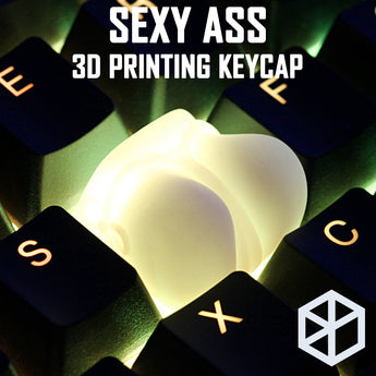Novelty Shine Through Keycaps 3d printed print printing pla sexy ass custom mechanical keyboards light Cherry MX compatible