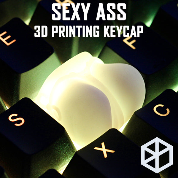 Novelty Shine Through Keycaps 3d printed print printing sexy ass Cherry MX compatible