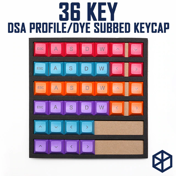 dye subbed colorful keycaps modifier for mechanical keyboard color of orange cyan magenta purple wasd arrow key esc dsa profile