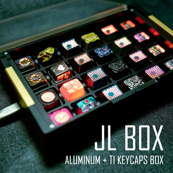 [END]JL Ti & Anodized Aluminum Keycaps box with RGB LED PCB+Magnetic top cover