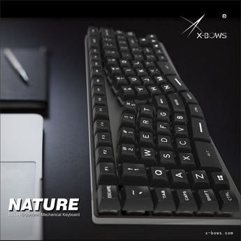 xbows Nature Mechanical keyboard pcb ergonomic optical switch rgb leds type c