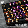 oem profile abs Backlit 87 104 108 ansi set keycap pubg battlegrounds keyboard shortcuts for corsair k70 razer black widow