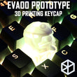 Novelty Shine Through Keycaps 3d printed eva00 Cherry MX compatible