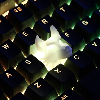 Novelty Shine Through Keycaps 3d printed the wolfs wolve CherryMX compatible