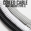 Bold Coiled Cable wire Mechanical Keyboard GH60 USB cable mini micro type c USB port for kit DIY poker 2 xd64 xd75 xd96 mobile phone