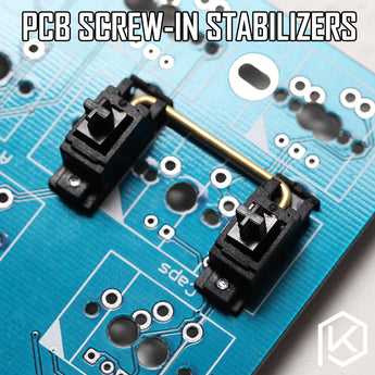 Black PCB mount screw in Stabilizers for Custom Mechanical Keyboard gh60 xd64 xd60 xd84 eepw84 tada68 zz96 6.25x 2x 7x rs96 87