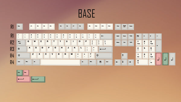 9009 colorway 169 Cherry profile Dye Sub Keycap Set thick PBT plastic keyboard gh60 xd60 xd84 cospad tada68 rs96 zz96 87 104 660