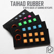 taihao Rubber Gaming Keycap Set Rubberized Doubleshot Keycaps Cherry MX Compatible OEM Profile shine-through Set of 8 keycaps