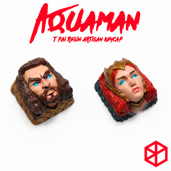 [Pre-Order]T-Pai Novelty inspired by Aquaman Resin hand-painted keycap