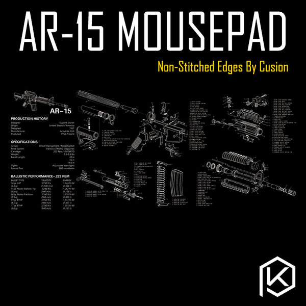 Mechincal keyboard Mousepad colt ar 15 semi-automatic rifle 900 400 4 mm non Stitched Edges Soft/Rubber High quality
