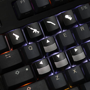 Novelty Shine Through Keycaps ABS Etched, light,Shine-Through cf crossfire gaming shortkey arrow key black red color wasd r4 r1