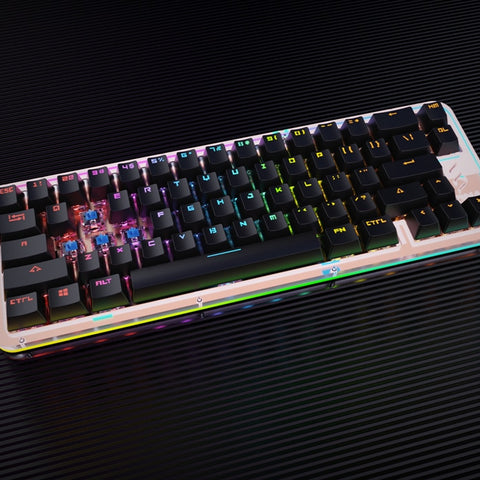 DNA65 65% Custom Mechanical Keyboard PCB CASE hot swappable switch support lighting effects with RGB switch led