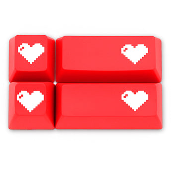 Domikey SA abs doubleshot keycap pixel heart red oem cherry profile