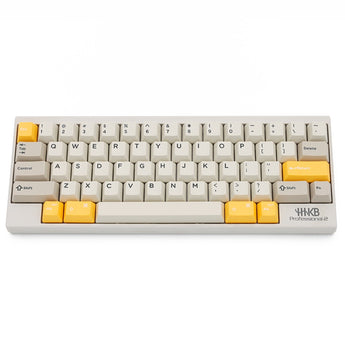 Domikey hhkb abs doubleshot keycap set 1980s 80s for topre stem yellow enter version