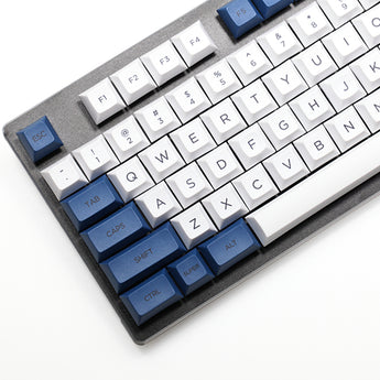 dsa white blue colorway Dye Sub Keycap Set PBT plastic for keyboard gh60 xd60 xd84 cospad tada68 rs96 zz96 87 104 660