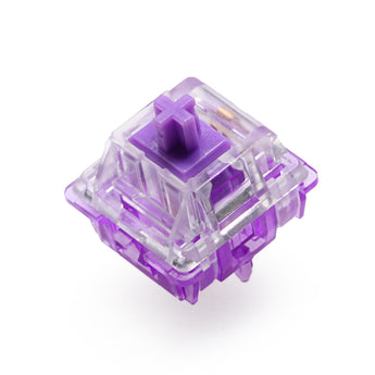 EVERGLIDE SWITCH Crystal purple mx stem 5pin 45g tactile 10 switch/pac