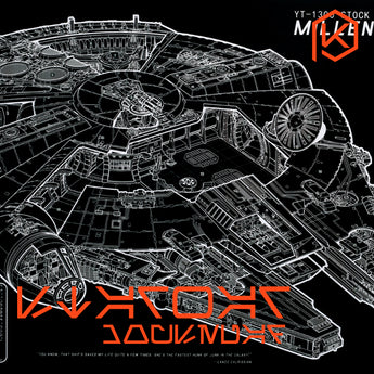 Mechanical keyboard Millennium Falcon starwar Mousepad 900 400 4 mm non Stitched Edges Soft/Rubber High quality YT-1300
