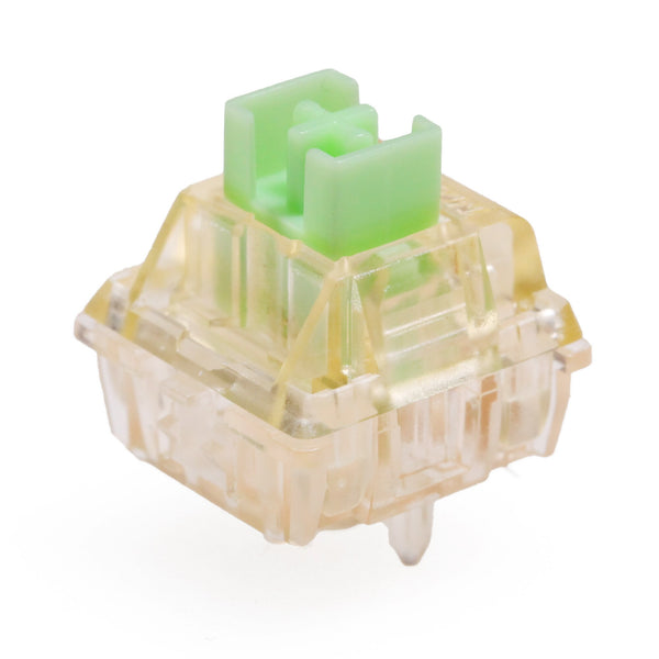 Gateron kangaroo Switch RGB Tactile 59g 63g Switches For Mechanical keyboard mx stem 5pin orange transparent body green