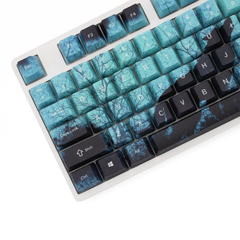 OMO OEM profile all over Dye Sub PBT Keycap loop Timber Wolves wolf