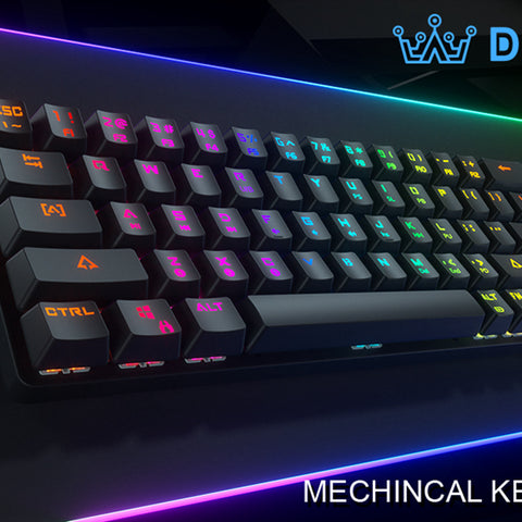DIERYA Mechanical Gaming Keyboard DK63 60% True RGB Backlit Bluetooth 4.0 Wireless