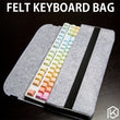 soft felt keyboard carrying bag for planck preonic gh60 xd64 tada68 va68 k65 k70 k95