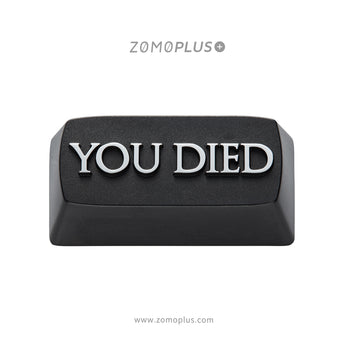 zomo you died Artisan Keycap CNC anodized aluminum backspace black colorway