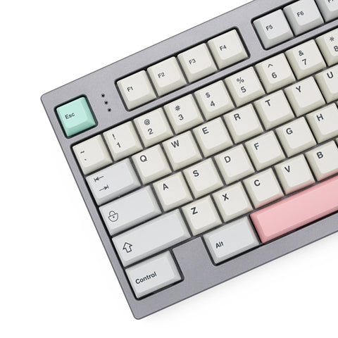 Everglide arc 9009 light grey red green colorway xda profile-like Dye Sub Keycap PBT
