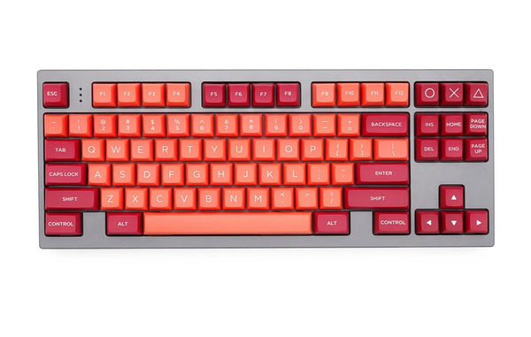 WINMIX pbt doubleshot keycaps osa profile lava orange colorway for xd64 xd68 xd84 xd96
