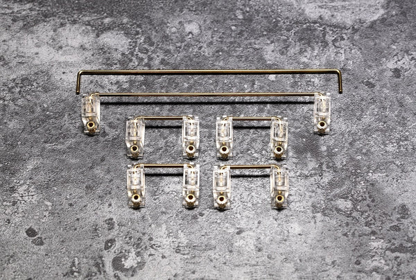 Everglide Transparent Gold Plated Pcb screw-in Stabilizer for Custom Mechanical Keyboard