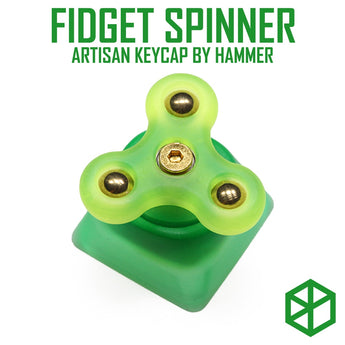 HAMMER FIDGET SPINNER ARTISAN KEYCAP MX stem Resin body