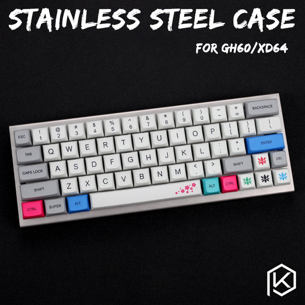 Stainless Steel Case For XD60 XD64 GH60 60% Custom Keyboard Acrylic Diffuser Panels