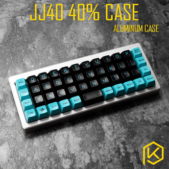 Anodized Aluminium case for jj40 40% custom keyboard acrylic panels acrylic diffuser jj40 Rotary brace supporter for planck
