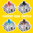 cherry rgb switch 3pin blue red black brown silver for custom mechnical keyboard